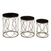 Woodland Imports Exquisite 3 Piece Nesting Tables