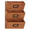 <strong>Wood Wall Letter Holder</strong> by Woodland Imports