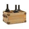 Woodland Imports Exclusively Designed Wood 6 Bottle Wine Caddy