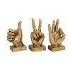 Woodland Imports 3 Piece Decorative Hand Sign Sculpture Set