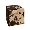 Woodland Imports Wonderful Leather Square Ottoman