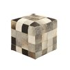 Woodland Imports Ravishing Styled Leather Ottoman