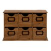 Woodland Imports 6-Drawer Smart Styled Attractive Wood Table File Cabinet