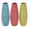 Woodland Imports Lovely and Artistic Ceramic Vase (Set of 3)