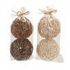 Woodland Imports Classy Natural Decorative Ball (Set of 4)