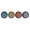 "Woodland Imports Grand Metal 15"" Wall Clock (Set of 4)"