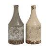 Woodland Imports 2 Piece Themed Classy Ceramic Vase Set