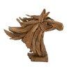Woodland Imports Simply Gorgeous Wood Teak Head Horse