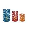Woodland Imports 3 Piece Impressive Metal Lantern Set