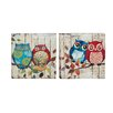 Woodland Imports 2 Piece Unmissable Beautiful Painting Print on Wrapped Canvas Set