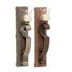 Woodland Imports Vintage Wood Metal Glass Sconce (Set of 2)