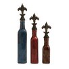 Woodland Imports 3 Piece Heavenly Glass Polystone Decorative Stop Bottle Set