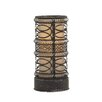 "Woodland Imports Contemporary Styled Metal Accent 17"" H Table Lamp with Drum Shade"