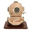 Woodland Imports Unique Metal Wood Decorative Diving Helmet Sculpture