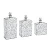 Woodland Imports 3 Piece Metal Mosaic Mirror Bottle Sculpture Set