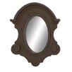 Woodland Imports Fiber Glass Oriental Style Wall Mirror