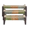 <strong>Woodland Imports</strong> 3 Piece Wood Bench Set