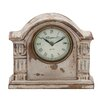 Woodland Imports Traditional Wooden Mantle Clock