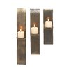<strong>Woodland Imports</strong> 3 Piece Metal Sconce Set