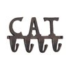 "Woodland Imports Aluminum ""Cat"" Wall Hook"