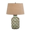 "<strong>Woodland Imports</strong> Translucent 23"" H Table Lamp with Empire Shade"