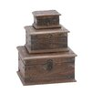 <strong>Woodland Imports</strong> 3 Piece Wooden Reclaimed Box Set