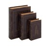 Woodland Imports 3 Piece Italian Inspired Book Box Set