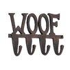 """Woodland Imports Aluminum """"Woof"""" Wall Hook"""