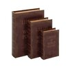 <strong>3 Piece Leather Book Box Set</strong> by Woodland Imports
