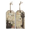 Woodland Imports 2 Piece Francisco Solicitous Prose Wall Décor Set