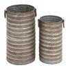 2 Piece Cylindrical Planter Set