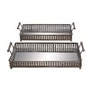 <strong>Woodland Imports</strong> 2 Piece Metal Glass Rectangular Serving Tray Set