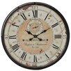 "Woodland Imports Ovesized 32"" Romanian Styled Antique Wall Clock"
