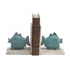 <strong>Woodland Imports</strong> Polystone Fish with Wood Book Ends (Set of 2)