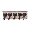 Woodland Imports Wood & Metal Elephant Wall Hooks