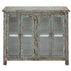 Woodland Imports Wood and Glass Cabinet
