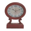 Woodland Imports Rustic Wood Table Clock