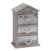 Woodland Imports Wooden and Metal Box with 3 Drawers