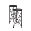 Woodland Imports 2 Piece Round Planter Stand Set