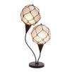 """Woodland Imports Metallic Fishing Net 28"""" H Table Lamp with Oval Shade"""