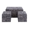 <strong>3 Piece Decorative Wooden Trunk Set</strong> by Woodland Imports