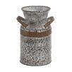 Woodland Imports Asiatic Antique Metal Galvanized Milk Can