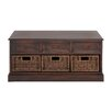 Woodland Imports Emoting Wood 6 Drawer Basket Low Chest