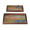 Woodland Imports 2 Piece Germanic Serving Tray Set
