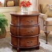 <strong>Plantation Cherry Three Drawer Barrel End Table</strong> by Butler