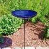 Crackle Birdbath with Stand