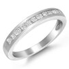 <strong>A Jewelers</strong> 14k Gold Princess Cut Diamond Wedding Band Ring