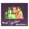Fetco Home Decor Expressions Wisona Together Pbj with Gems Picture Frame