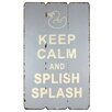 Fetco Home Decor Rhiona Keep Calm and Splish Splash Textual Art