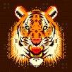 Chobopop Geometric Tiger Polyester  Duvet Cover